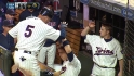 Plouffe's RBI single