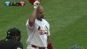 Pujols receives ovation