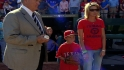Young fan throws first pitch