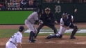 Montero scores on wild pitch