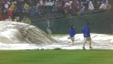 Grounds crew struggles with tarp