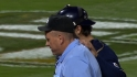 Ump shaken up on foul ball