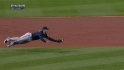 Hairston's diving grab