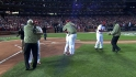 Cards legends throw first pitch