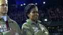 First lady appears at Series