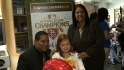 Cards, Vera Clemente give back