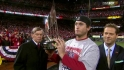 Freese receives MVP trophy