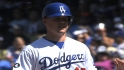 Gurnick on the Dodgers' bench