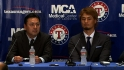 Darvish introduced in Texas