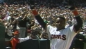 Bonds homers in home debut