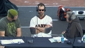 Vogelsong and Sanchez at FanFest