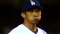 Hideo Nomo brings the heat, striking out 17 Marlins in 1996