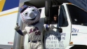 Mr. Met loads the truck