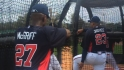 Justice, McGriff at Braves camp