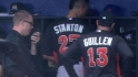 Stanton hit by pitch