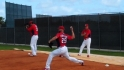 Carpenter throws off mound