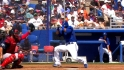 Bautista gets hit by a pitch