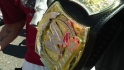Reddick sports WWE replica belt