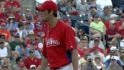 Hamels strikes out seven