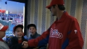 Phillies players surprise fans