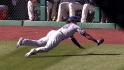 Rasmus' great diving catch