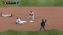 Aybar turns double play
