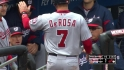 DeRosa scores on wild pitch