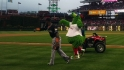 The Phanatic has fun with Hanley