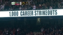 Weaver's 1000th career strikeout