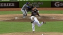 Bell's first Marlins save