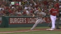 Weeks' RBI double