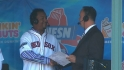 Pedro visits NESN booth