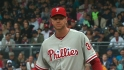 Halladay walks three straight