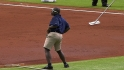 Grounds crew does 'Apache' dance