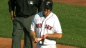Youkilis leaves the game