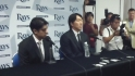 Matsui meets the media
