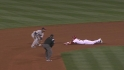 Trout steals second