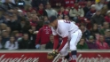 Middlebrooks' first putout