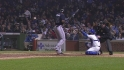 Heyward hit by pitch