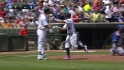 Dozier&#039;s first career homer