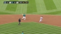 Beavan hit by comebacker
