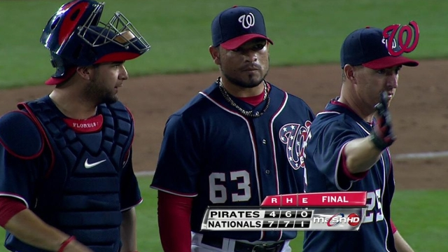 Final outing helps Rodriguez make Nats' roster