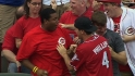 Reds fan catches two homers