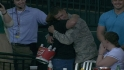 Soldier surprises family