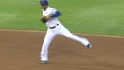 Andrus' off-balance throw
