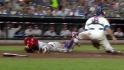 Victorino&#039;s go-ahead sac fly