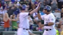 Rockies score two on error