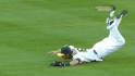 Reddick's diving grab