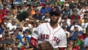 Pedroia&#039;s tough stop