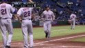 Davis&#039; three-run blast